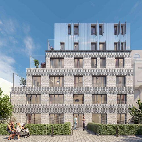 logement neuf extérieur La Cour Ferber - PARIS 20ème