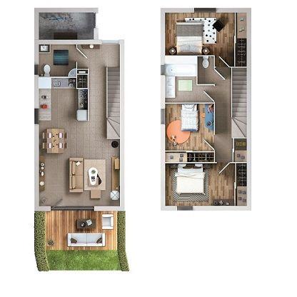 logement neuf plan Les Essentielles - Colomiers