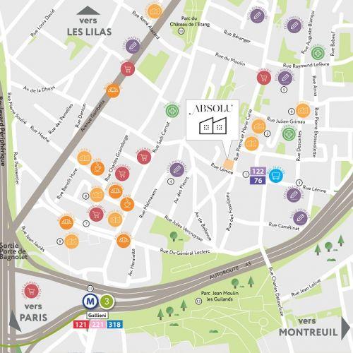 logement neuf plan Absolu - BAGNOLET