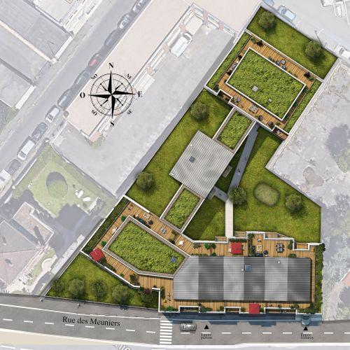logement neuf plan B92 - Bagneux