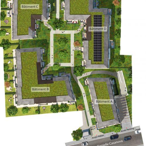 logement neuf plan Gardenia - Argenteuil
