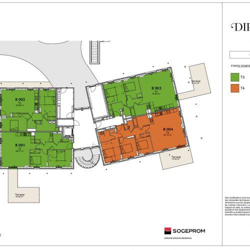 logement neuf plan 12 Diptyque - LE VESINET