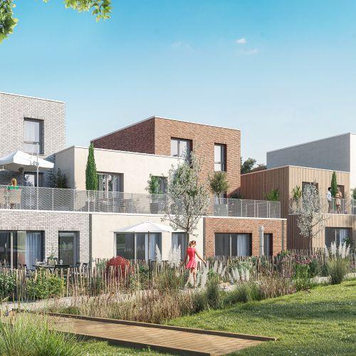 logement neuf extérieur 4 Couleur Nature - AMIENS