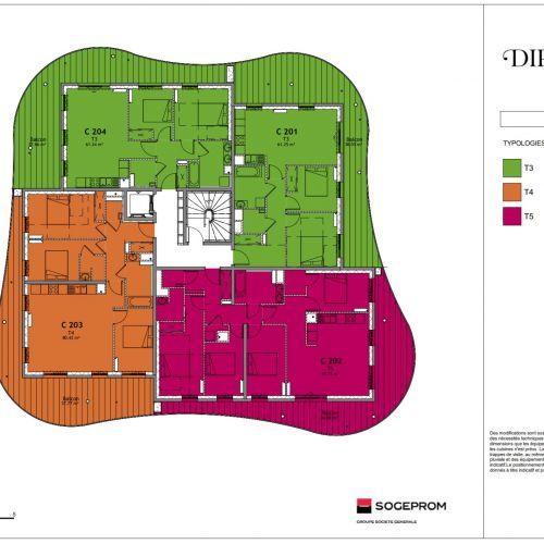 logement neuf plan 19 Diptyque - LE VESINET