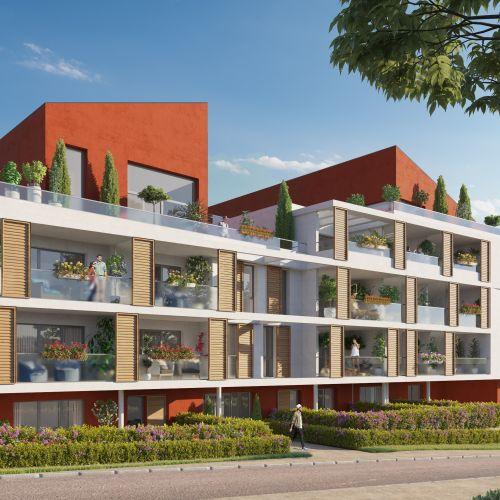logement neuf extérieur Les Jardins d'Alba - Marseille