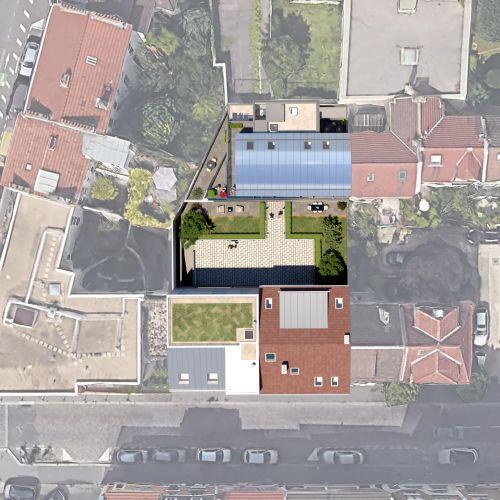 logement neuf plan  La Cour Ferber - PARIS 20ème