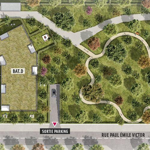logement neuf plan Le Parc Habité - Pessac