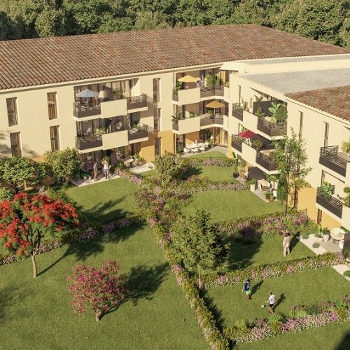 logement neuf extérieur Le Domaine des Vignes - Le Luc