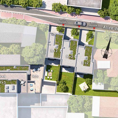 logement neuf plan VILLA COUTURES - ISSY LES MOULINEAUX