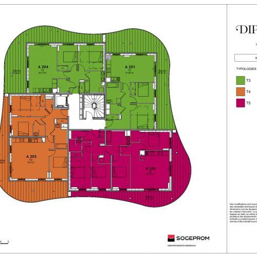 logement neuf plan 9 Diptyque - LE VESINET