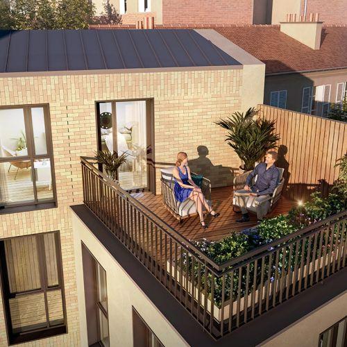 logement neuf extérieur LES JARDINS DANTZIG - PARIS