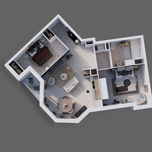 logement neuf plan 1 L'ENVOL - LE BLANC MESNIL