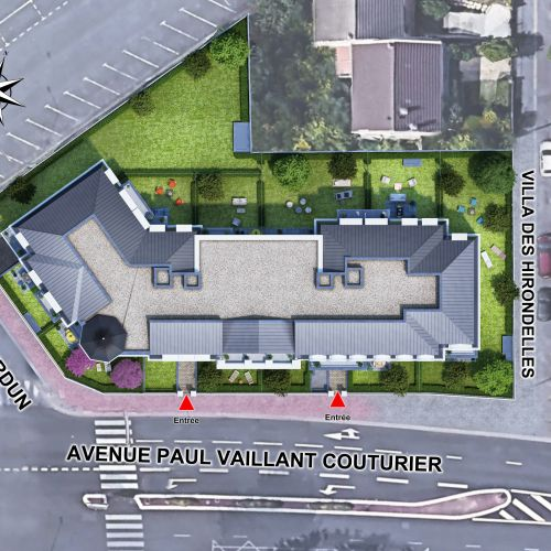 logement neuf plan L'ENVOL - LE BLANC MESNIL