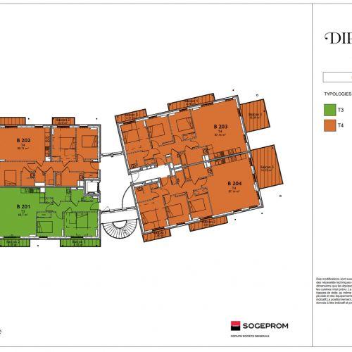logement neuf plan 14 Diptyque - LE VESINET
