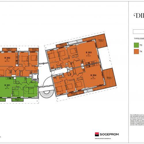 logement neuf plan 15 Diptyque - LE VESINET