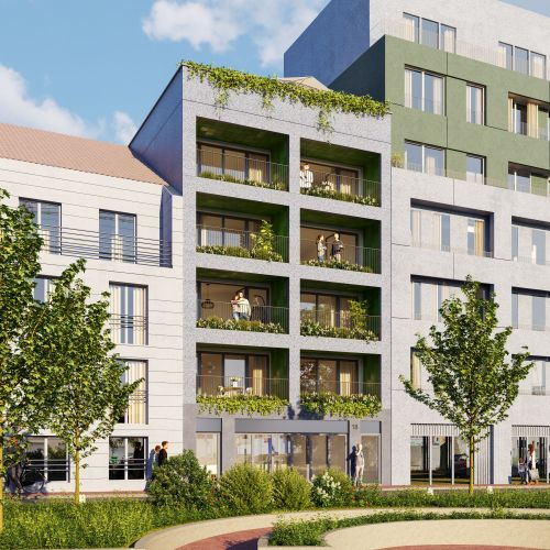 logement neuf extérieur 2 Le 18 - ASNIERES-SUR-SEINE