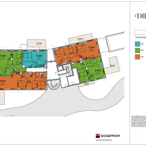 logement neuf plan 22 Diptyque - LE VESINET