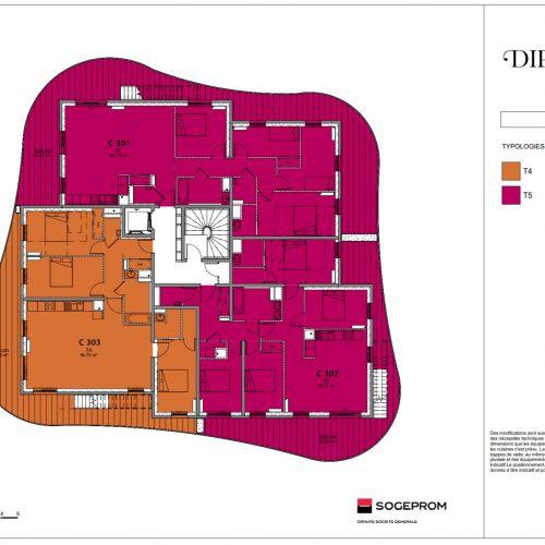 logement neuf plan 20 Diptyque - LE VESINET