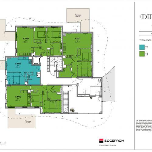 logement neuf plan 7 Diptyque - LE VESINET