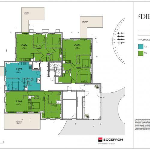 logement neuf plan 17 Diptyque - LE VESINET