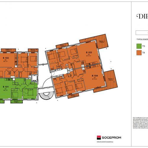 logement neuf plan 13 Diptyque - LE VESINET