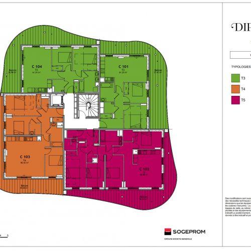 logement neuf plan 18 Diptyque - LE VESINET