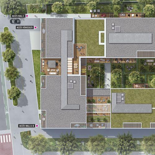 logement neuf extérieur OXYGEN - Toulouse