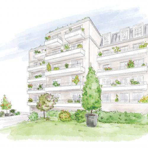 logement neuf plan - Arcueil