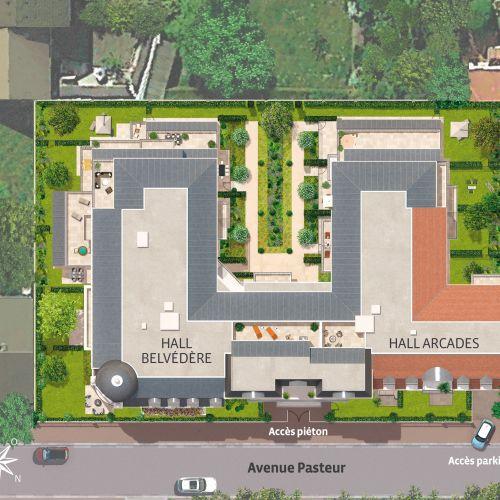 logement neuf extérieur LA ROTONDE - Le Blanc-Mesnil
