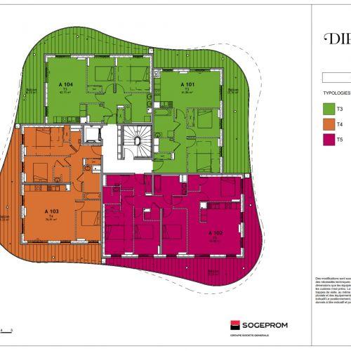 logement neuf plan 8 Diptyque - LE VESINET