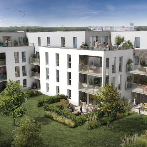 logement neuf extérieur Le clos Lucie - MONS EN BAROEUL