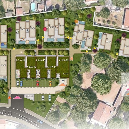 logement neuf plan FELICY - MARSEILLE 12
