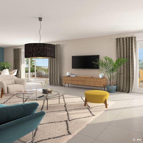 logement neuf intérieur Esprit Matisse - FENOUILLET