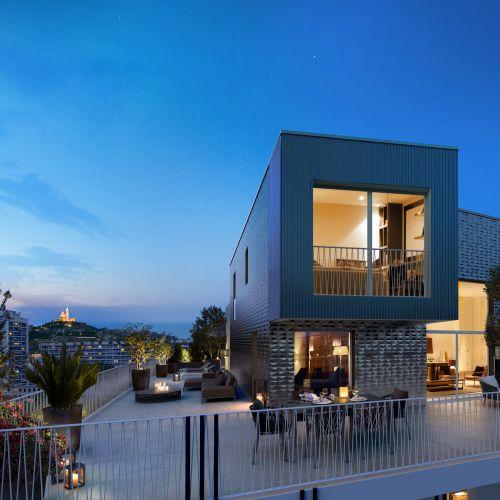 logement neuf extérieur 1 8ème Art - MARSEILLE 08
