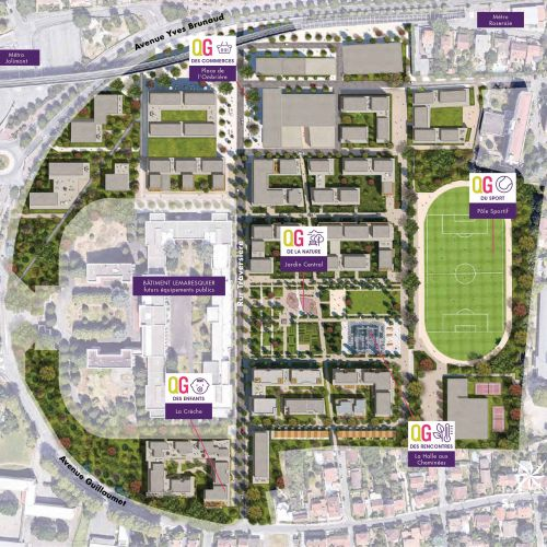 logement neuf plan New District - TOULOUSE