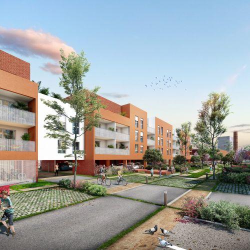 logement neuf extérieur L'ÎLOT VERT - Roubaix