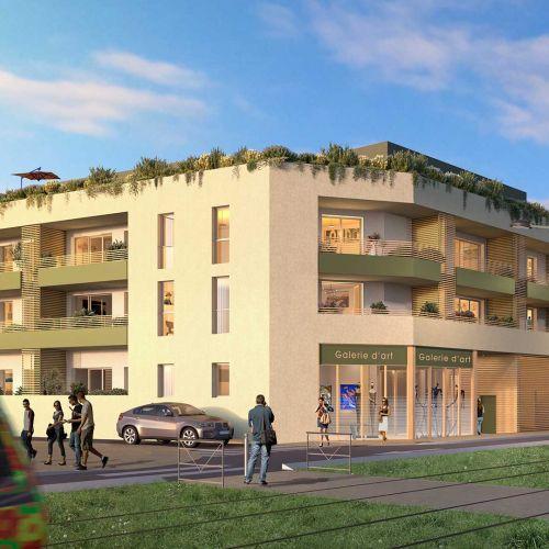 logement neuf extérieur CASTEL ART - CASTELNAU LE LEZ