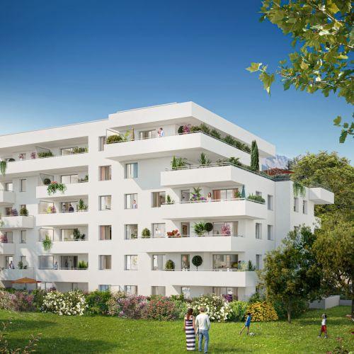 logement neuf extérieur Le Domaine des Saules Blancs - MEYLAN