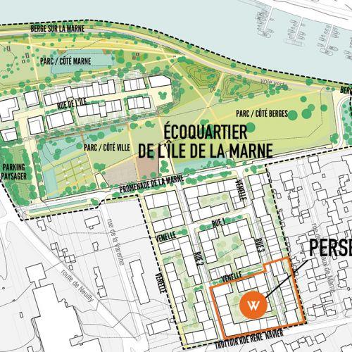 logement neuf plan PERSEA - NOISY LE GRAND