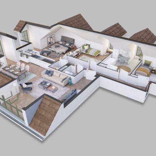 logement neuf plan LES PENITENTES - LILLE