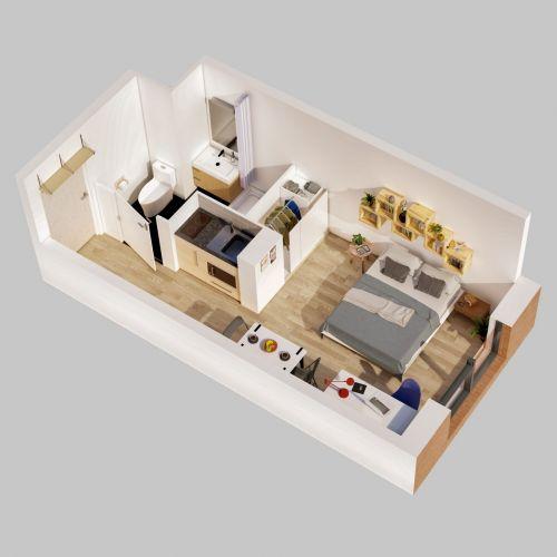 logement neuf plan Stud'Campus - ROUBAIX