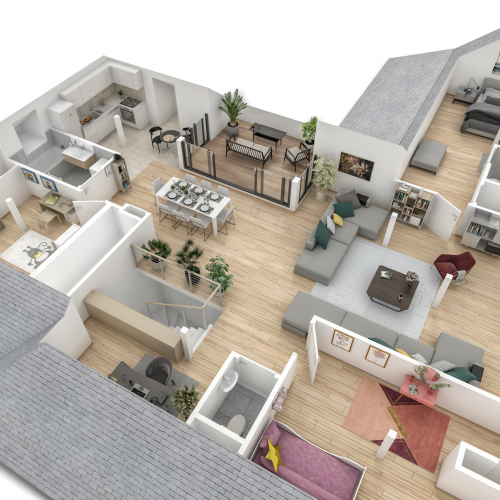 logement neuf plan OSTEL SAINTE ODILE - STRASBOURG