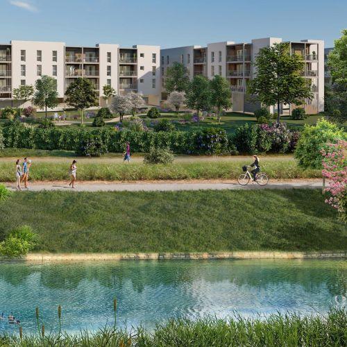 logement neuf extérieur LES JARDINS DU CANAL - ARLES
