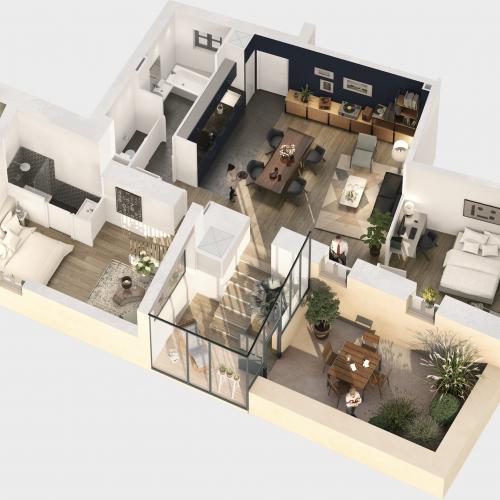 logement neuf plan CHATEAU BEL AIR - ALBIGNY SUR SAONE