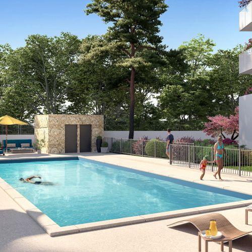 logement neuf extérieur Domaine d'Antonin - MONTPELLIER