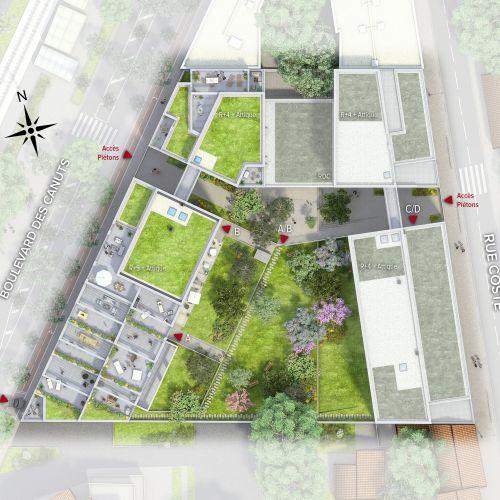 logement neuf plan EKLA - CALUIRE ET CUIRE