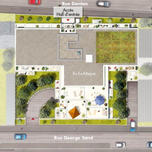 logement neuf plan Carré Blanc - JUVISY SUR ORGE