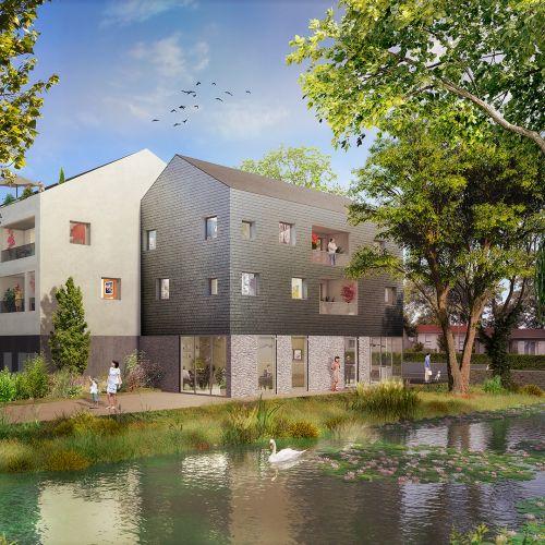 logement neuf extérieur 2 LES JARDINS DU CYGNE - HAUTE GOULAINE