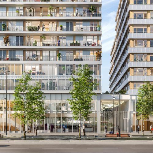 logement neuf extérieur AIR DU TEMPS - PARIS 13