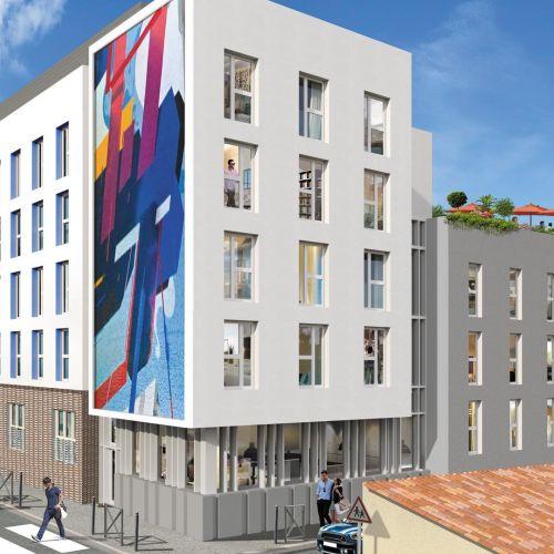 logement neuf extérieur STUD'TIMONE - MARSEILLE 05